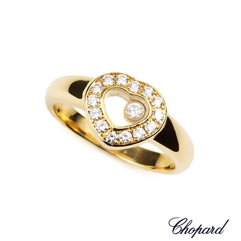 Chopard 18k Yellow Gold Happy Diamonds Ring 82/1084-20